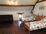 Bedroom 3: Twin / Family Room, with 2 Single beds and a Double Sofa Bed. A lovely spacious room.