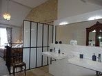 # 1bedroom en-suite with shower, wash basins and wc
