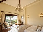 Master Bedroom with dressing room, ensuite, private terrace, Juliet balcony with stunning sea views.