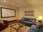 Cinema Room with Bose surround sound, multi-channel TV, Blu-Ray, Apple TV (with Netflix), PS4.