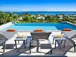 La Sarabande...magnificent 180 view over Orient Bay, St Martin