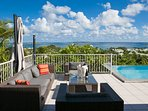 La Sarabande...magnificent 180 view over Orient Bay, St Martin