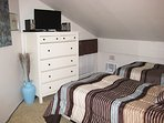 Upstairs Bedroom with Flat Screen TV