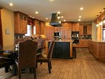 Gourmet kitchen with the highest-end appliances.
