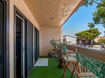 Private Patio Overlooks Pool, Jacuzzi and Tennis Courts