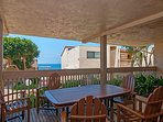 Common Area Complex Patio (not private patio) With Ocean View.