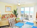 Living Room Gulf Dunes 214 Fort Walton Beach Okaloosa Island Vacation Rentals
