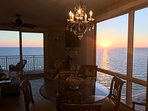 Corner (end) condo with spectacular WESTERN ocean and sunset views from multiple windows and doors.