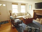 Living Area with coastal furnishings- 58 Longs Lane Chatham Cape Cod New England Vacation Rentals
