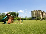 The playground is perfect for the kids, or enjoy a game of volleyball at the volleyball net!