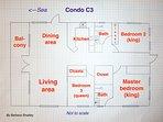 Condo floor plan (not to scale!)