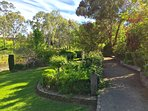 The walkway through the gardens-stop and smell the roses