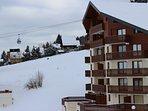 Ski lift close to apartment