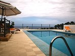 Heated private pool of Villa Alegria, Tenerife. Ocean, promenade and beaches on walking distance.