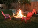 Enjoy a private evening by your own fire pit!