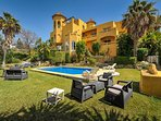 Villa from Garden with Large pool