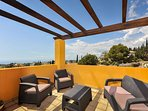 Relax on the Top Terrace with seating amazing views