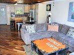 Open Floor Plan with New hardwood Floor