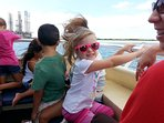 Grand kids are so much fun!!  Taking a boat tour!