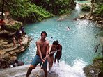 A section of Dunns River Falls the most popular tourist attraction in the Caribbean minutes away