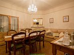 Formal dining for up to 8 guests