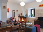 Casa Rosa, open fire to compliment the full gas central heating - for a cozy night in