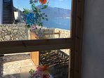 panorama su Salina dalla varanda