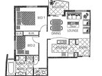 FLOOR PLAN- 2 bedrooms