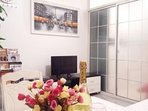 Shanghai Downtown Big Newly Decorated &Furnished,Riverside Apt,Good Location,Perfect View-Livingroom