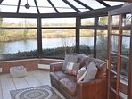 Conservatory with views of river