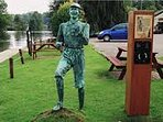 Local Statue by Water Edge Pub - Billy Bluelight