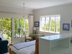Master Bedroom with Super King Bed and Dressing Area with private deck with Ocean / Mountain views