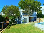 Gracious Characterful Villa 250m from beach with large peaceful garden and swimming pool