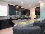 Gourmet Kitchen w/Granite Counter Tops & Stainless Steel Appliances