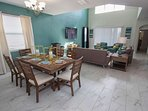 Open Floor Plan w/Dining Area for Eight (8)