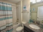 Upstairs Shared Hall Bath w/Shower & Tub Combination #1