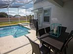 Covered Lanai w/Patio Seating for 6 and 2 Sun Loungers
