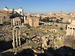 The FORUM ROMANUM: this is the astonishing view you will have 5 minutes walking from home.
