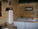 complete bath with washer and dryer