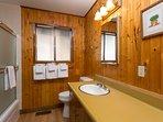 Full bathroom with tub/shower combo - main floor