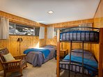 Bedroom #2 with a twin and bunk beds - main floor