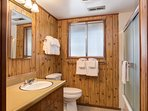 Full bathroom with tub/shower combo -  downstairs