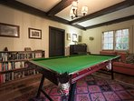 Games room with pool table and set of bunks