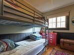 Upstairs bedroom with bunk