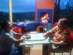 Dominoes with your family or your neighbors + a wood fire you may want occasionally