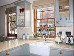 Handmade kitchen with Butler sink