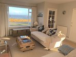 Living room with sea view.
