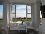 Beautifully appointed studio apartment with superb sea views.
