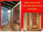 Infrared Sauna and shower box for 4 people