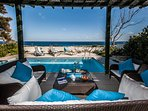 The Sea, the Terrace, the Pool, the Patio Outdoor Furniture